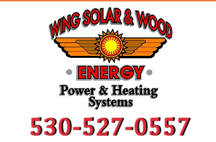 Alernative Energy, Renewable Energy Red Bluff Northern CA | Solar Energy | Wind Energy | Off Grid Power | On Grid Power - Wing Solar & Wood Energy, Inc Red Bluff CA